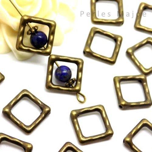 10 cadres pour perles main de fatma couleur bronze antique