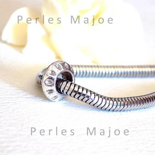 10 x perles métal forme toupie décorées couleur bronze style tibétain 6.50 x 7