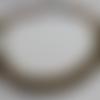 Collier spirale vert olive safran bronze en perles de rocaille
