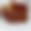 Manchette en perles japonaise aux  motifs  géométrique nid d'abeille couleur sienne et ecureuil