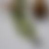 Bracelet manchette étoilé en perles de rocaille miyuki vert et ivoire