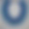 """Collier plastron bleu """"romance  des iles """" tissé  en résille"""
