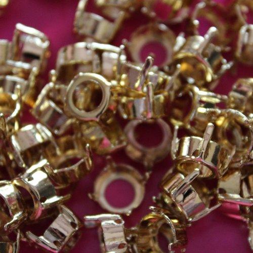 10 sertissures pour cabochons ronds 10 mm doré