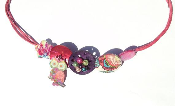 headband hibou hippie fleuri psychédélique 2016 fait main