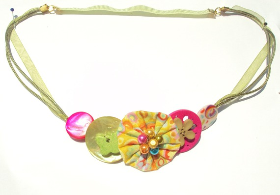 headband enfant papillon vert et fuchsia 2017 fait main