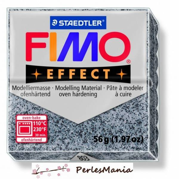 1 pain 56g pate polymère FIMO EFFECT GRANITE 8020-803