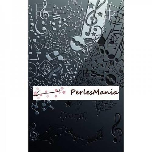 Plaque de texture musique pour pate fimo, cernit, sculpey....