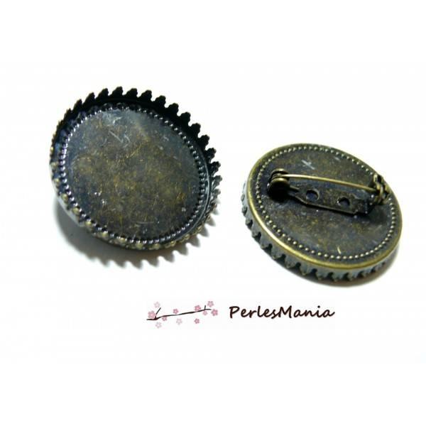 1 support de broche griffe 30mm BRONZE ref 26169 Fournitures pour création de bijoux