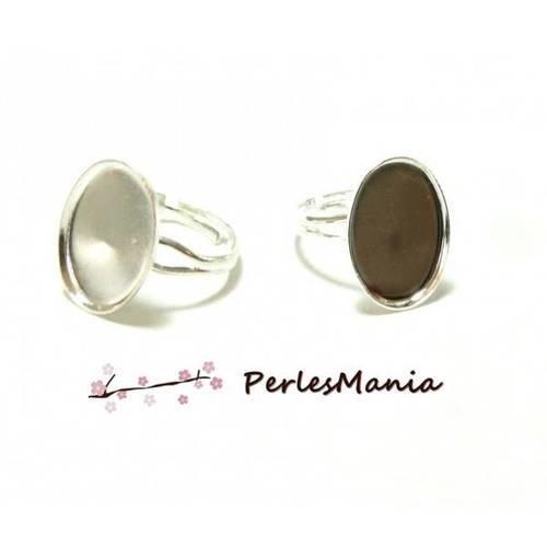 10 bagues ovales double fine 13 par 18mm argent vif ref 21686 fournitures pour bijoux