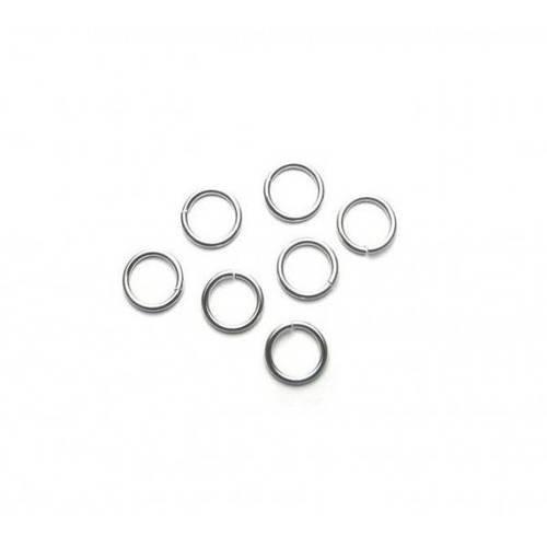 Pax 500 anneaux de jonction argent platine 7mm par 0.9mm