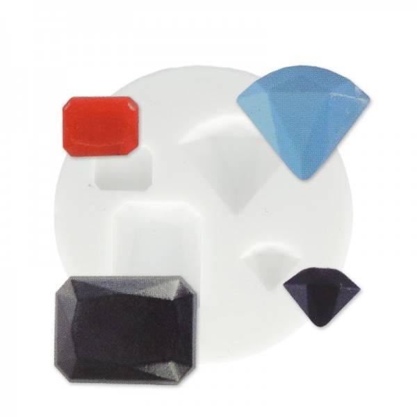 Mini moule silicone pour pâte polymère, fimo PIERRES PRECIEUSES DTM 284441