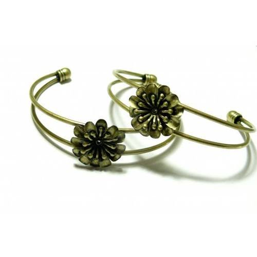 1 support de bracelet fleur 3d bronze ( s1146293 )