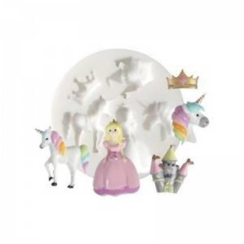 1 mini moule en silicone licorne princesse creations fimo dtm ref 284454