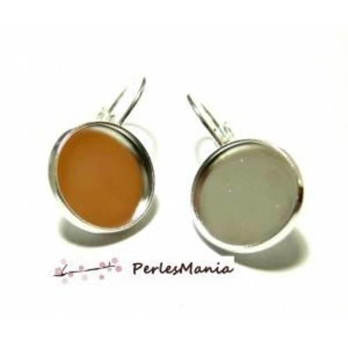 Pax 20 supports de boucle d'oreille qualité en 14mm argent platine 121228164156pp