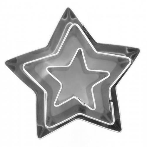 Lot de 3 mini emporte-pièces métal etoile dtm 265045