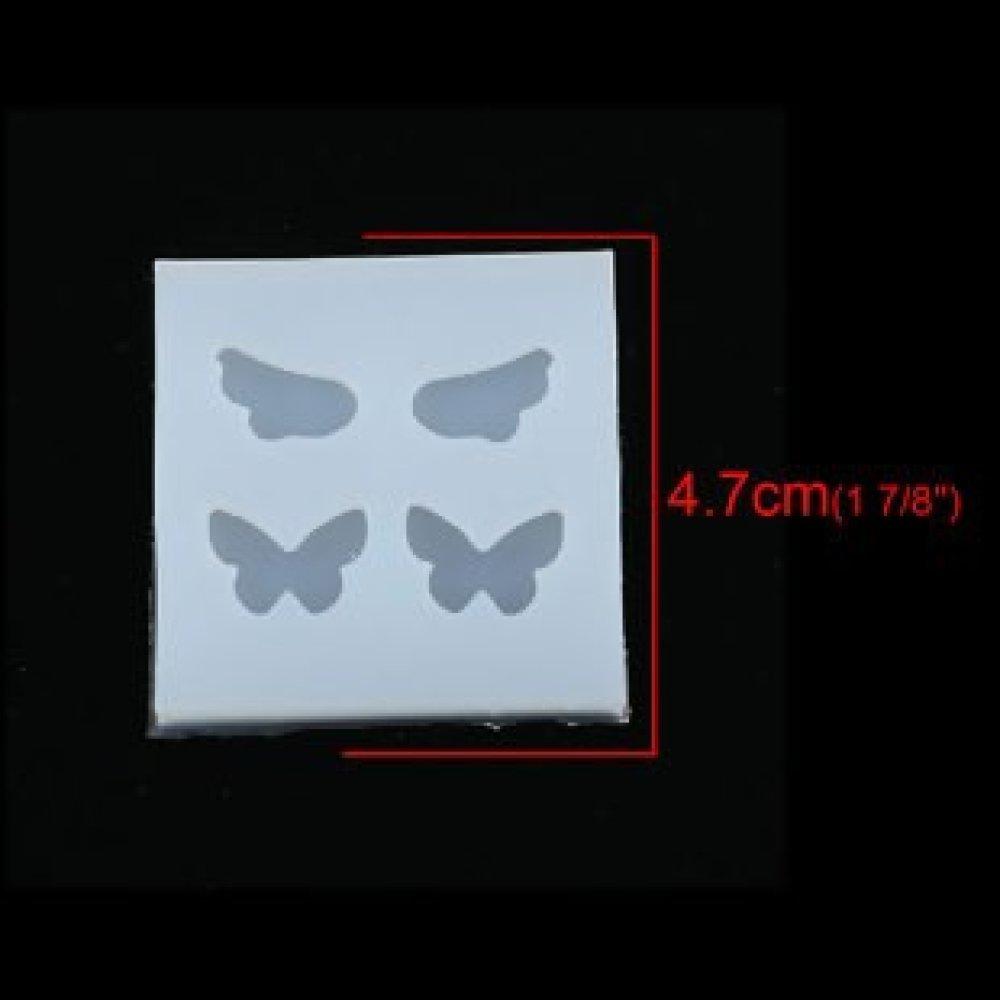 S116791 PAX 2 Moules en Silicone Ailes et Papillons pour Creation Fimo Cernit Resine