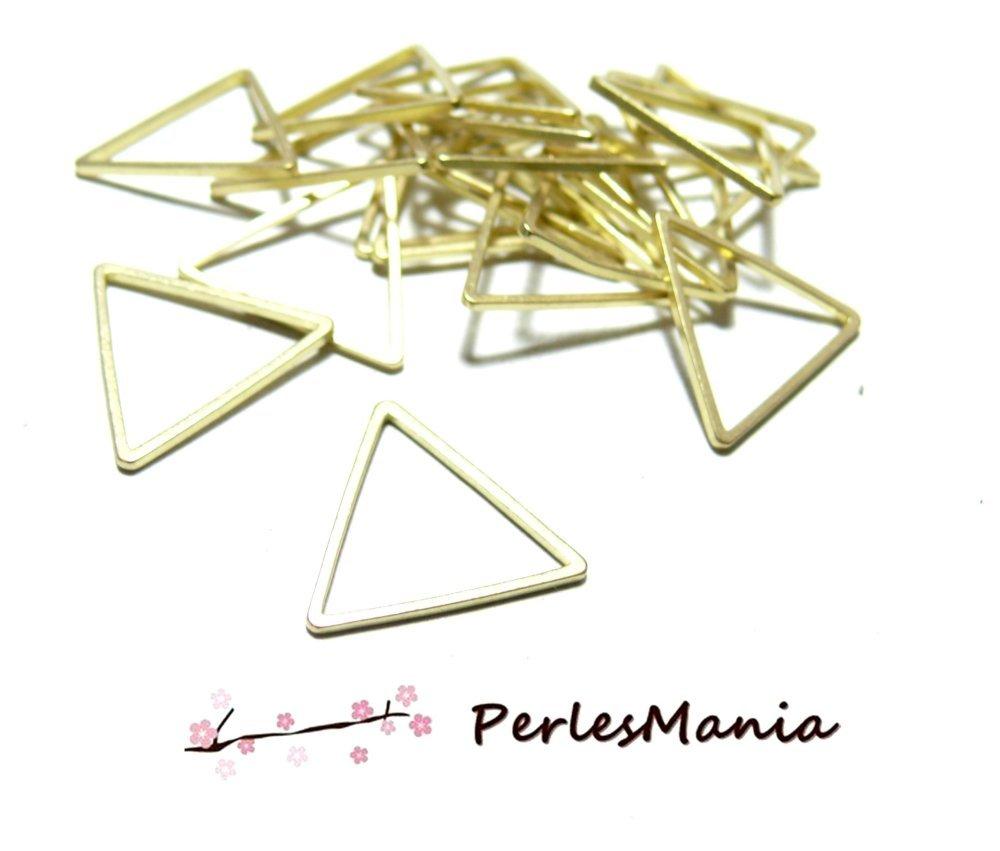 170522112212OC PAX 20 pendentifs Anneau connecteur fermé Triangle Or Clair