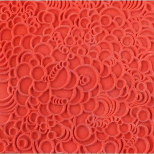 Plaque de texture bubbles, bulles pour pate fimo, sculpey cernit ce95011