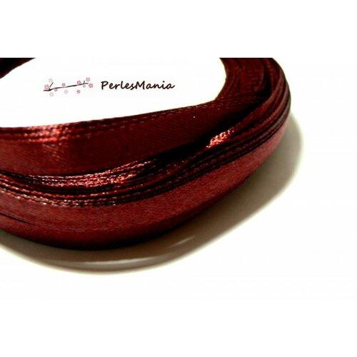 Rc20y048 1 rouleau de 22 mètres ruban satin rouge vin 20mm