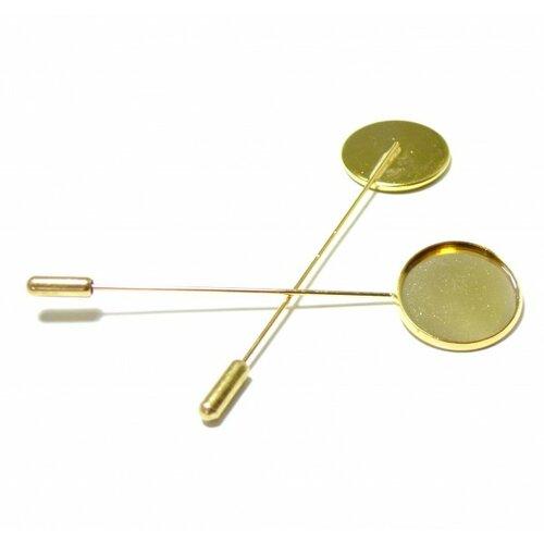Bn1123055 pax 5supports broches fibule couleur doré 20mm qualité laiton