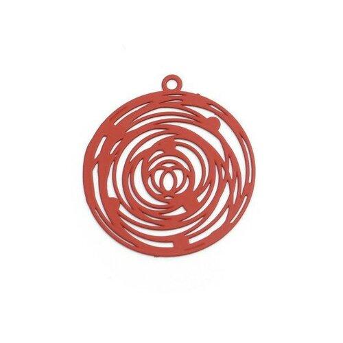 Ps110206560 pax 5 estampes pendentif filigrane rosace de 29mm