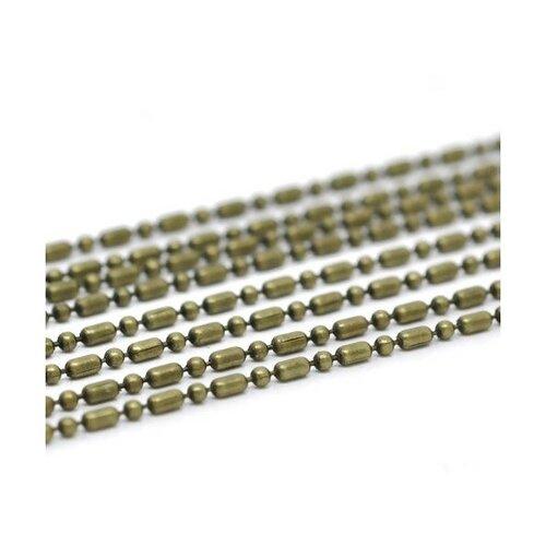 Ps1114659 pax 5m chaine chainette a maille bambou métal couleur bronze 3 par 1.5mm