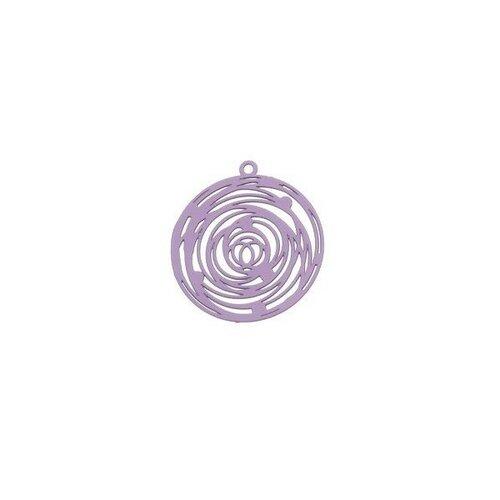 Ps110206564 pax 5 estampes pendentif filigrane rosace de 29mm