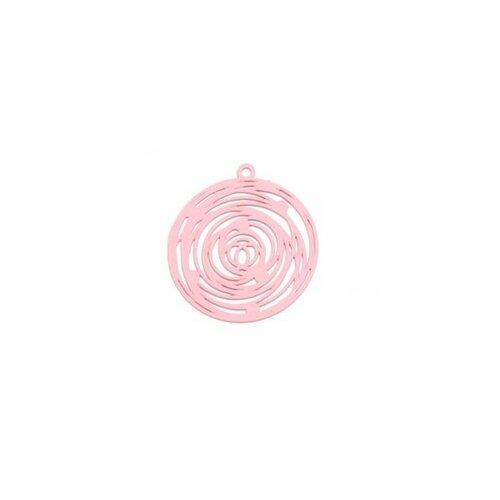 Ps110206566 pax 5 estampes pendentif filigrane rosace de 29mm