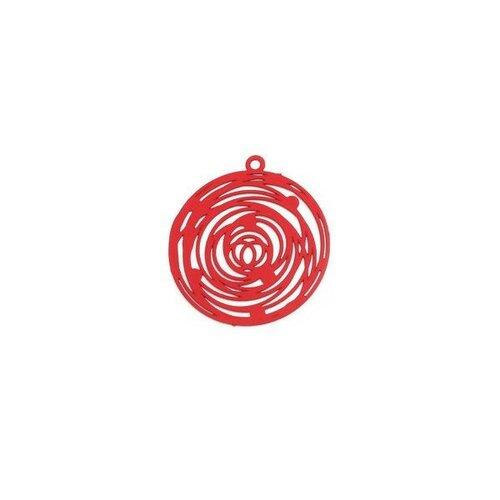 Ps110206561 pax 5 estampes pendentif filigrane rosace de 29mm