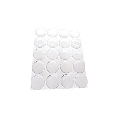 Lot de 20 cabochons resine epoxy rond 30mm sticker autocollant epoxy transparent ( s1123629 )