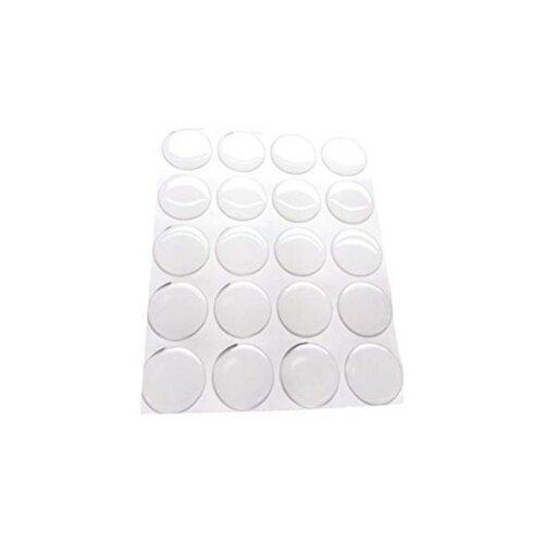 Lot de 48 cabochons resine epoxy rond 18mm sticker autocollant epoxy transparent ( s1118432 )