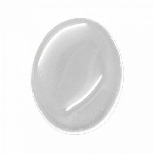 Lot de 66 cabochons resine epoxy ovale 13 par 18mm sticker autocollant epoxy transparent (s1117191)