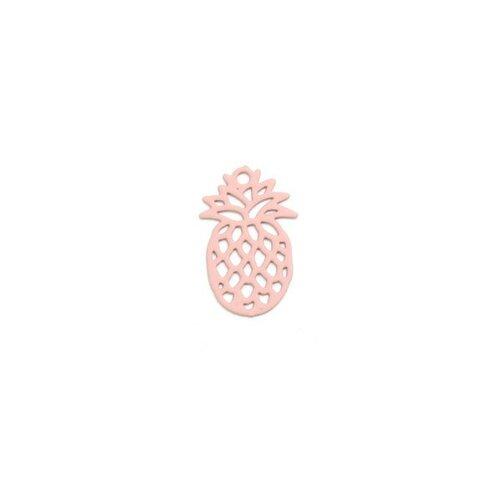 Ps110206598 pax 20 estampes pendentif petit ananas rose 15mm