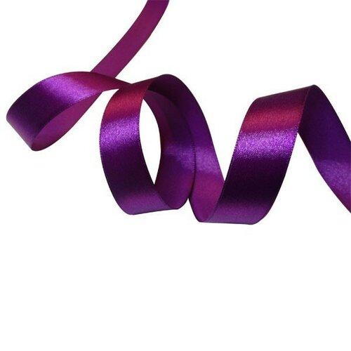 Rc6y035 1 rouleau de 22 mètres ruban satin 6mm violet