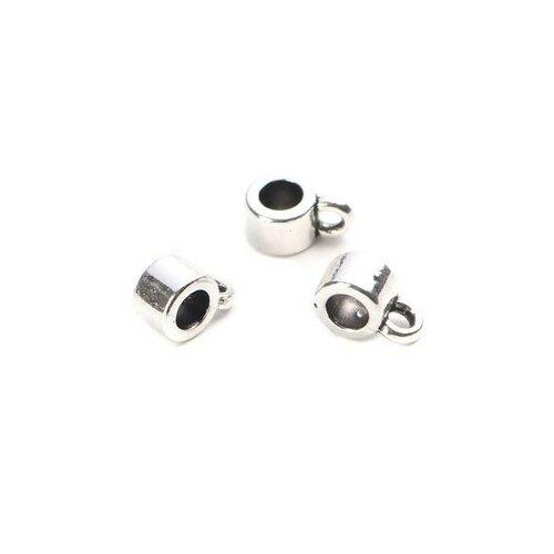 S110203847 pax 200 pendentifs bélières simple 6 par 3mm metal argent platine
