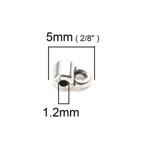S110203846 pax 250 pendentifs bélières simple 5 par 3mm metal argent platine