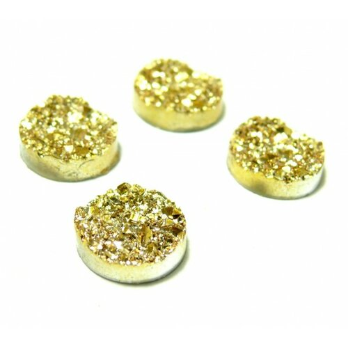 Ps1176702 pax 25 cabochons plat druzy, drusy ronds 12mm