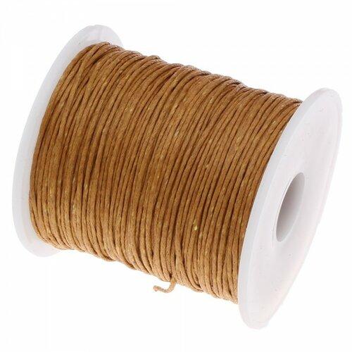 160428090701 pax 1 bobine d'environ 70m de fil en coton ciré 1mm ocre foncé 2x7220 no12