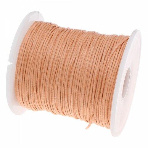 160428090701 pax 1 bobine d'environ 70m de fil en coton ciré 1mm saumon clair 2x8230 no35