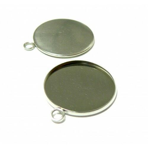 180710115233 pax 20 supports de pendentifs acier inoxydable 25mm