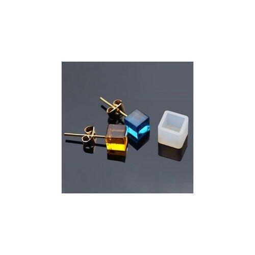 S1186540 pax 5 moule en silicone pendentif carre 7 par 7mm utilisation fimo resine