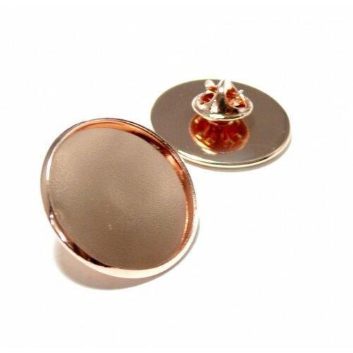 Bn1131161 pax 10 supports de broche pins en 20mm laiton couleur or rose