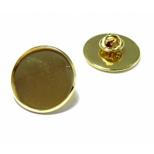 Bn1131161 pax 10 supports de broche pins en 20mm laiton couleur doré