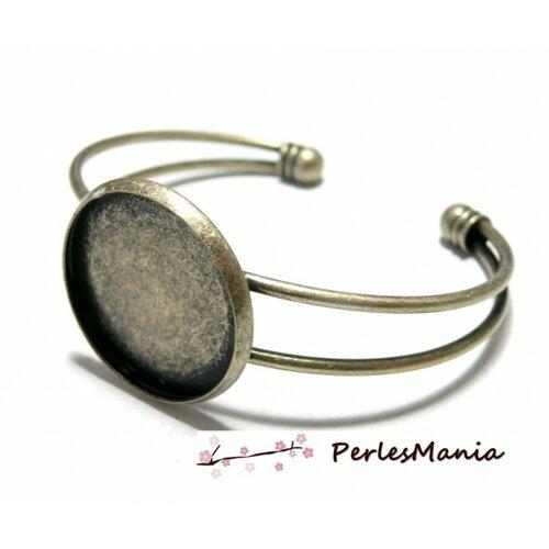 Bn1123443 pax 1 support de bracelet 20mm laiton couleur bronze pour collage digitale