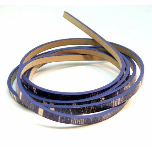 Lot de 4: environ 1,2 mètre de cordon simili cuir 5 par 2mm h1020h