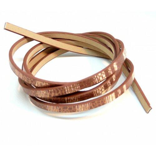 Lot de 4: environ 1,2 mètre de cordon simili cuir 5 par 2mm h1020d