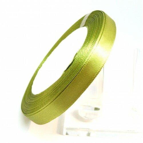 Rc10y052 1 rouleau de 22 mètres ruban satin 10mm vert