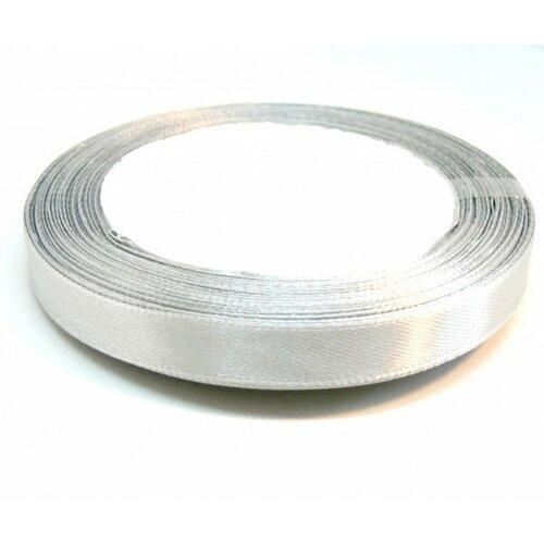 Rc10y003 1 rouleau de 22 mètres ruban satin 10mm gris clair