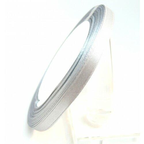 Rc6y019 1 rouleau de 22 mètres ruban satin 6mm gris clair