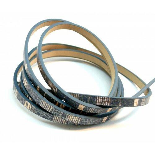 Environ 1,2 mètre de cordon simili cuir 5 par 2mm h1020o